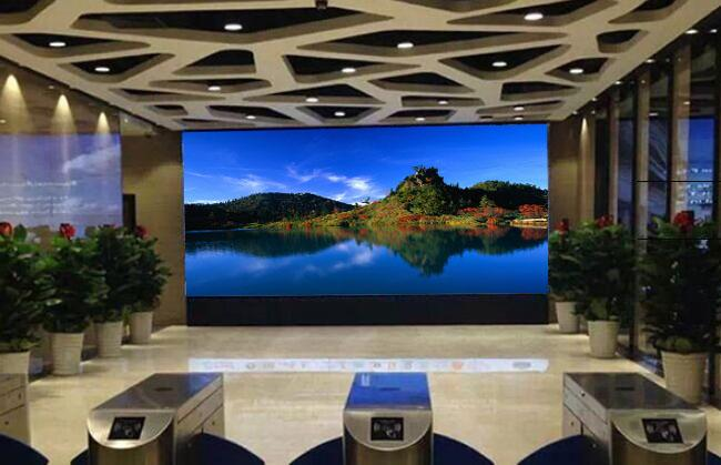 exhibiciones de pared video de 2K Samsung, pared multi Lcd de la pantalla del Cctv del bisel fino