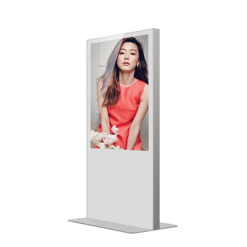 Usb Lcd Advertising Player , Vertical Stand Alone Digital Signage Display Network Version